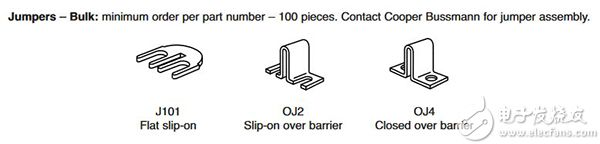 Eaton TB100 系列端子块跳线图片