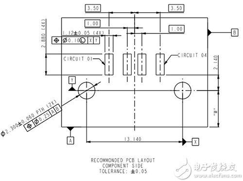 Amphenol 87583-3010RPALF USB A 插座 PCB 布局图片