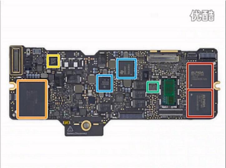 拆解苹果新MacBook,了解内部结构