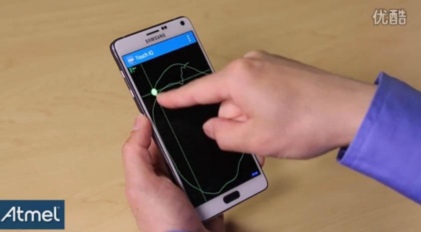 关于Atmel U系列触摸屏控制芯片悬浮感应的操作演示视频