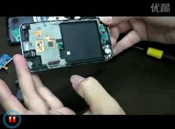 拆解三星旗舰i9000的视频