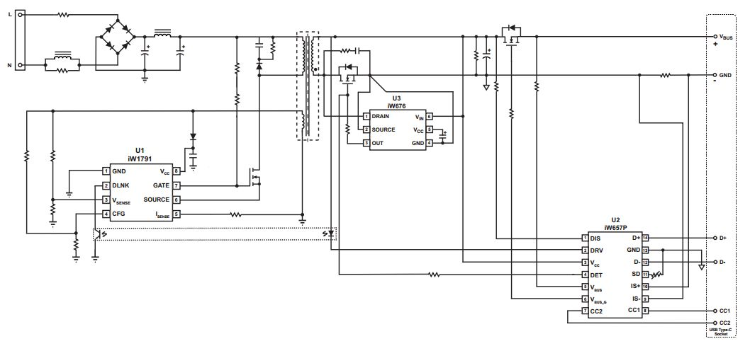 Dialog iW657P:USB PD接口控制器,支持高通QC4+技术