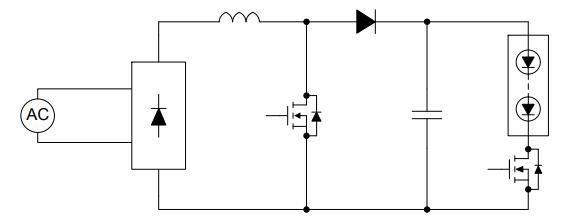 基于HV9805下的具有真正的直流输出电流的离线LED驱动器