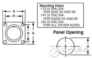 Amphenol 的 97-4102A 盒式插座示意图