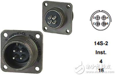 Amphenol 的 MS3102E14S-2P 触头排列图片