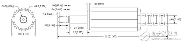 3.5 mm 音频插头尺寸图片