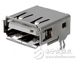 Amphenol 的 87583-3010RPALF USB A 插座图片