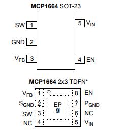 基于MCP1664下的集成 UVLO 和开路负载保护的高压升压 LED 驱动器