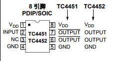 基于TC4451/TC4452下的12A 高速 MOSFET 驱动器