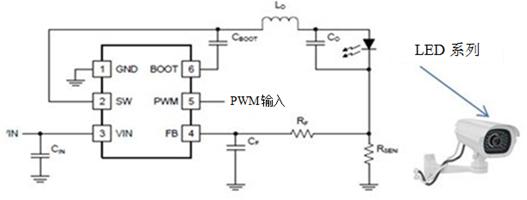 关于设计一款简单高效的发光二极管驱动器供摄像头使用