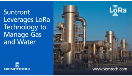 新天科技推出基于Semtech的LoRa技术的智能气表和智能水表解决方案