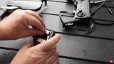 DJI Mavic Air的结合运动相机,低角度...