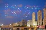 回归21周年庆 香港举行无人机户外光影汇演