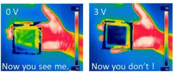 热感伪装薄膜可在热感应摄影机前隐形