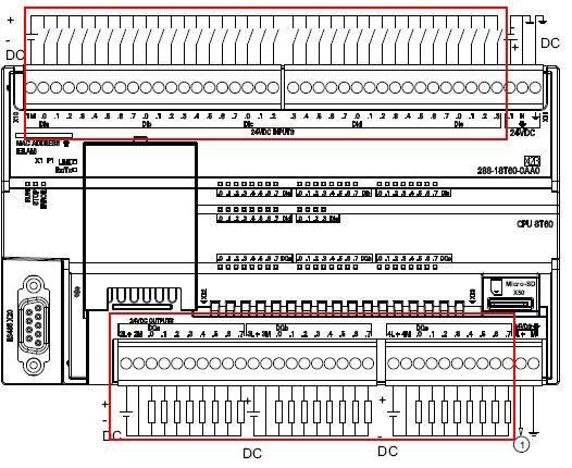 对于大多数输入来讲,都是24VDC输入,其中ST CPU的 I0.0-I0.3 支持 5-24V 输入,另外ST20/30 的I0.6、I0.7也支持5-24V输入。如下表所示:  S7-200 SMART的数字量输入点内部为双向二级管,可以接成漏型(图7)或源型(图8),只要每一组接成一样就行。 对于数字量输入电路来说,关键是构成电流回路。输入点可以分组接不同的电源,这些电源之间没有联系也可以。 数字量输出接线