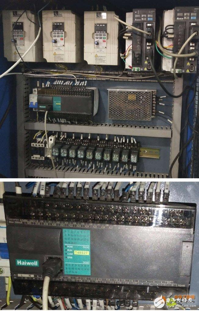 T48S2T 晶体管输出型 PLC,用于面袋缝线机的设计方案