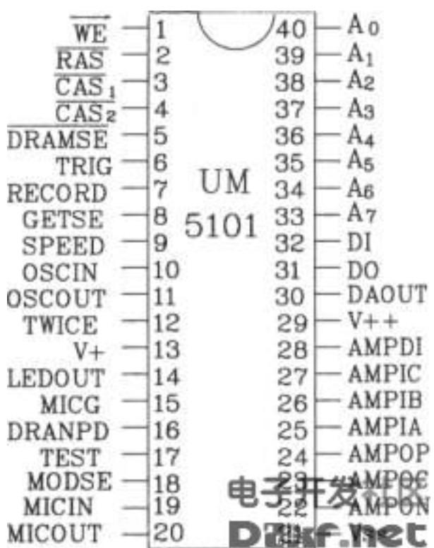 UM5101系列语音合成芯片特点及电路