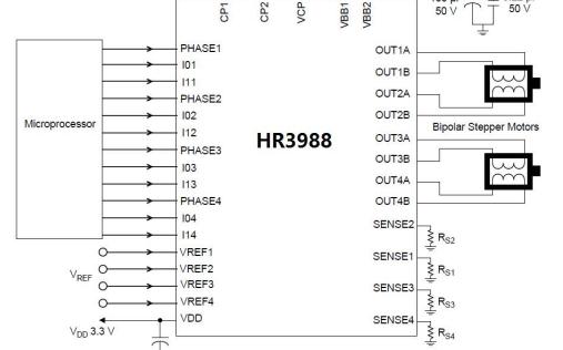 HR3988四路DMOS全桥驱动芯片的详细中文数据手册免费下载