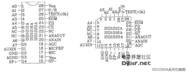 语言录放电路ISD1000A系列