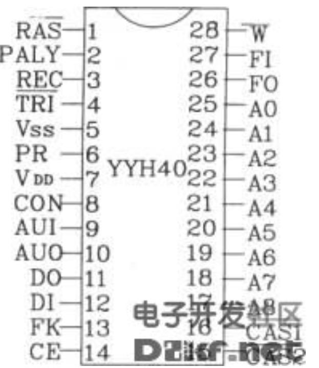 YYH40系列语音合成芯片特点及电路图介绍