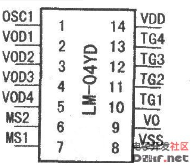 LM-04YD系列汽车专用语音电路原理图