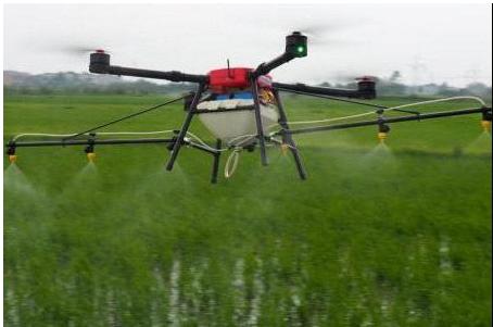 农用无人机喷药:可以减少农药污染,促进增收推动农...