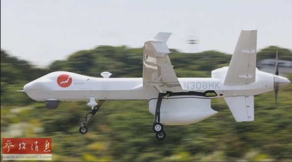 "MQ-9B""守护者""大型无人机在日测试,更换部件即可搭载导弹"