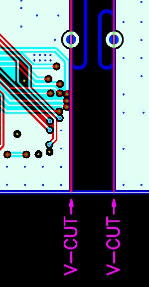 半孔设计方式示意图1