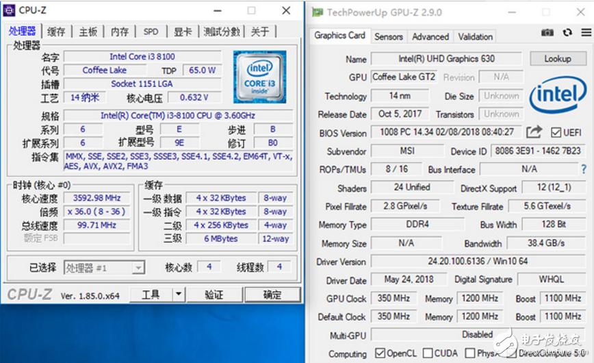 Ryzen 3 2200G VS Core i3-8100,都是四核四线程,该选哪个好?