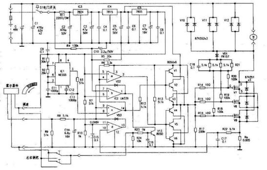 电动车线路图大全包括了电动自行车电路48v-500w电路图等