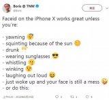 iPhone X的面部识别系统陷入困境的某些情况