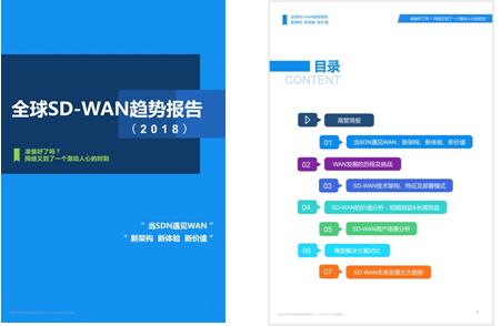 国内首份《2018全球SD-WAN趋势报告》,总结SD-WAN未来5大趋势。