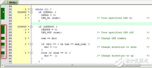 在调试模式下运行的用于 ARM 的 Keil MDK-PRO 图片