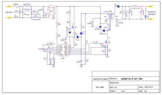 如何使用LM3447制作的一款15w 可调光球泡灯驱动的资料合集