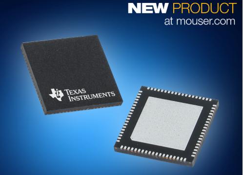 贸泽电子备货TI四通道1 GSPSADS54J64模数转换器,高信噪比、高带宽和500 MSPS