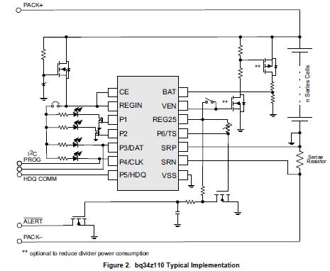 BQ34Z110电池配置的燃料计量器解决方案的详细资料概述