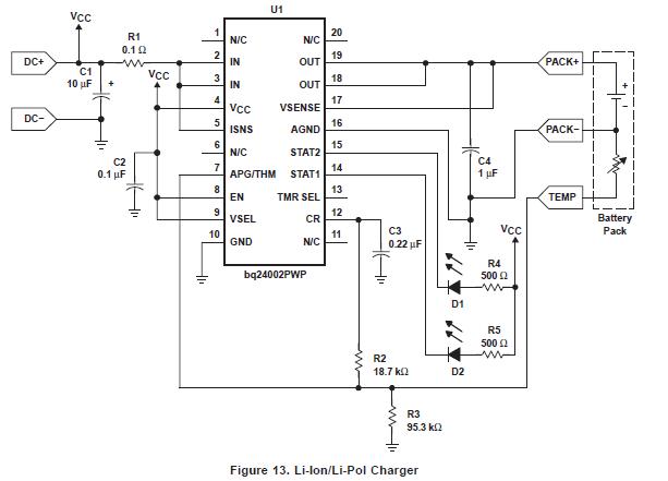 用于PDA和互联网设备的单电池锂离子充电管理芯片的详细数据手册