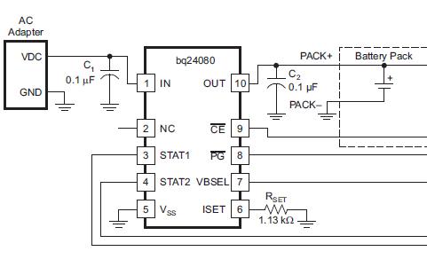 高度集成和灵活的Li-Ion线性充电装置BQ24080和BQ24081的数据手册
