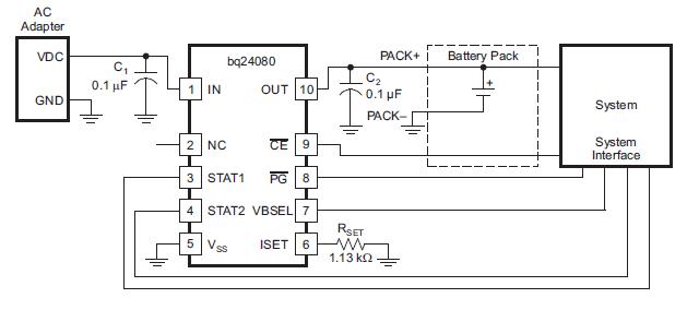 可调锂离子电池充电器BQ24083的数据手册免费下载