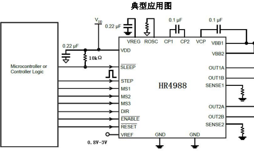 HR4988微特步进电机驱动器的详细中文资料数据手册