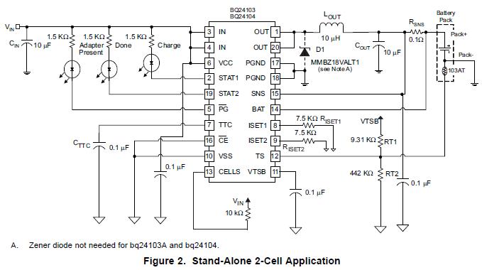 具有集成功率场效应晶体管的锂离子和锂聚合物电荷管理芯片数据手册