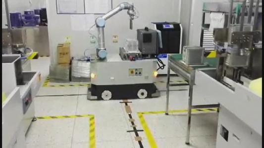 井松自动化开发视觉移动AGV机器人,让物流程序更智慧