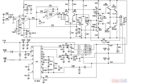 低音炮功放电路板与电路图分享