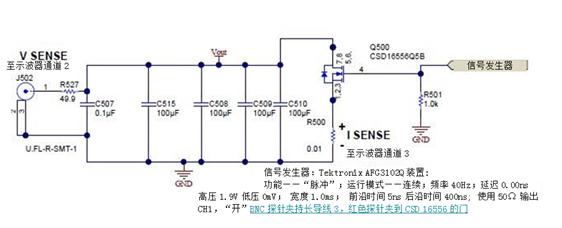 测量电源上的输出动态响应:示波器接地问题
