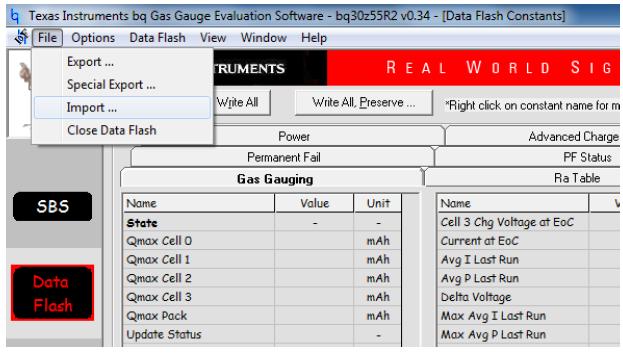 bq30z50和55系列芯片中senc文件导出配置过程的详细资料概述