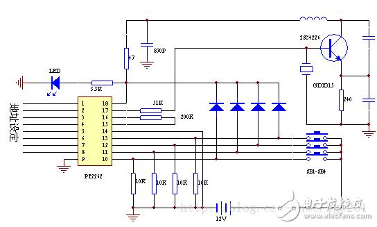 基于315m无线模块的pt2262/pt2272工作原理分析