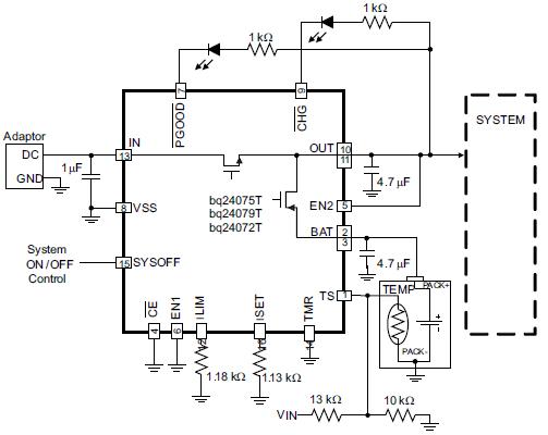 1.5A USB的锂离子电池充电器和电源路径管理芯片的详细资料概述