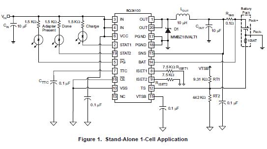 具有集成功率场效应晶体管的同步开关锂离子和锂聚合物电荷管理芯片