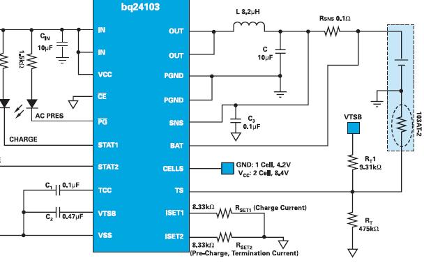 TI的集成功率FET的锂离子开关式充电器的详细中文资料概述