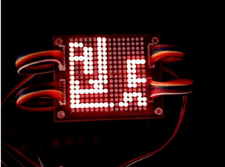 基于74HC154的點陣顯示屏案例(16x16)